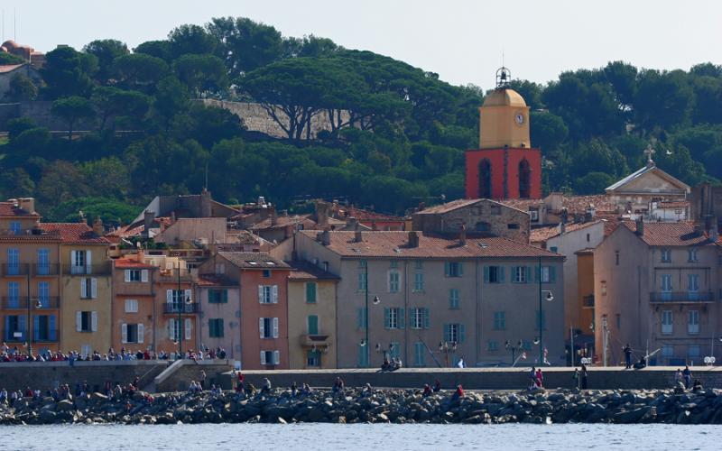 Voiles de Saint Tropez 2005 - Vue du village de Saint-Tropez