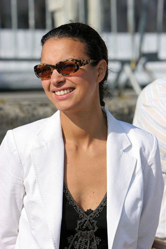 Isabelle Giordano, Marraine du maxi trimaran Groupama 3