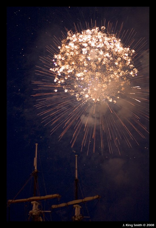 Firework over Lady Nelson