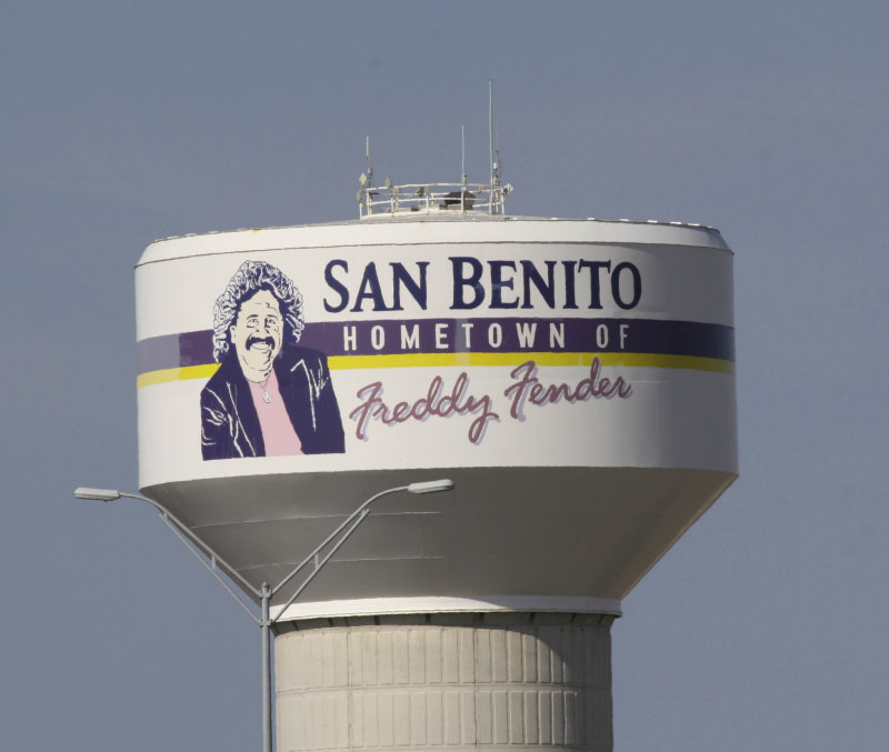 Freddy Fender Water Tower, San Benito, Texas