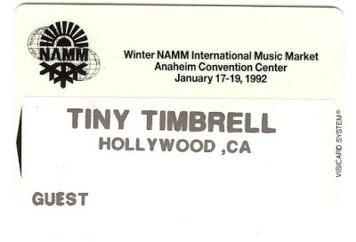 Tinys 1982 Namm badge