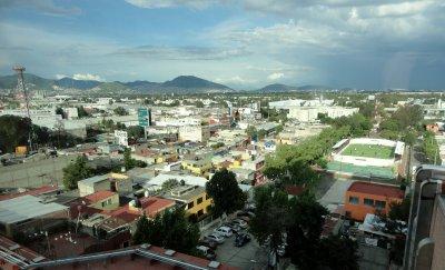 Regenzeit in Mexiko Stadt