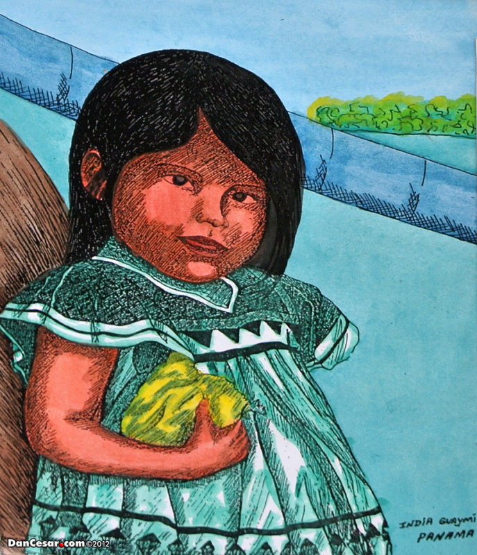 Painting of an indigenous girl