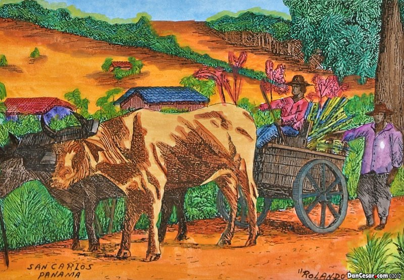 Painting of rural scene