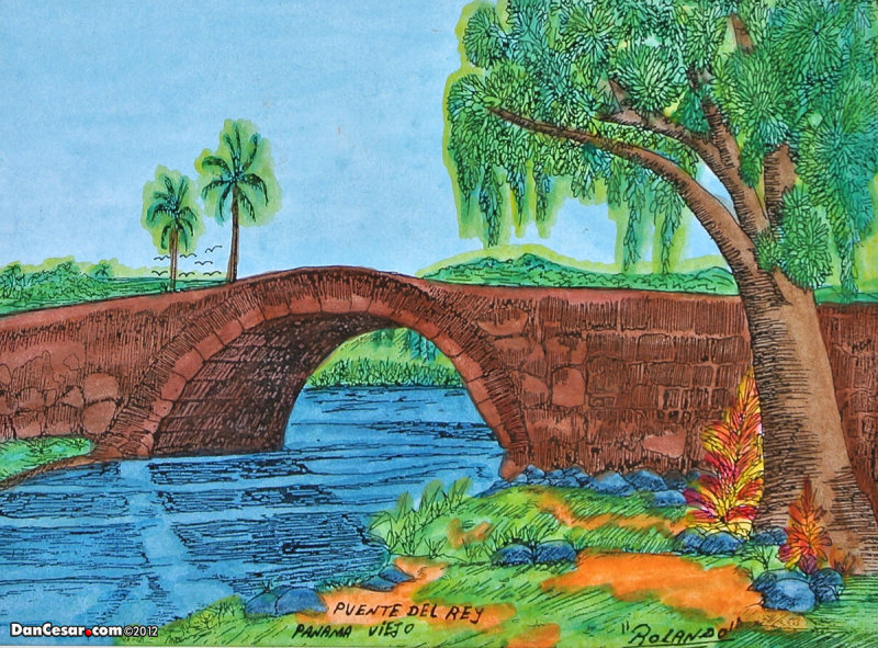 Painting of bridge