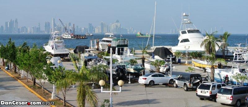 View of Panama City from Isla Perico