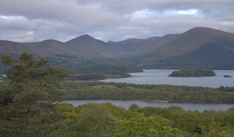 Glen Luss from Inchcailloch, Loch Lomond