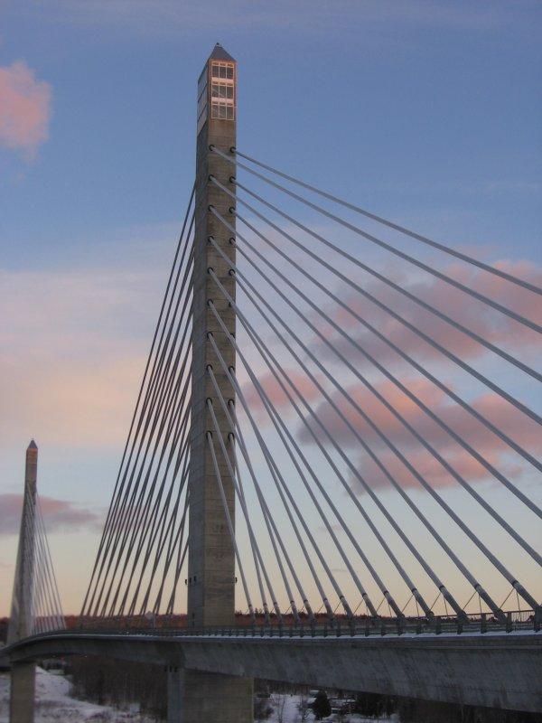 Penobscot Narrows Bridge in January