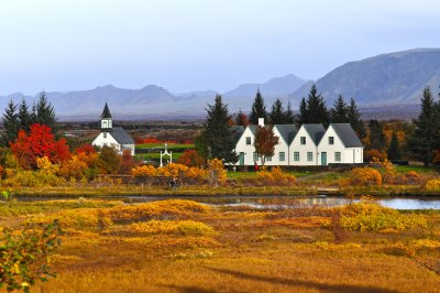 Thingvellir and the mountains