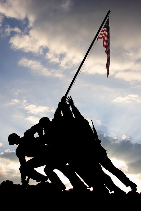 Iwo Jima Memorial Silhouette
