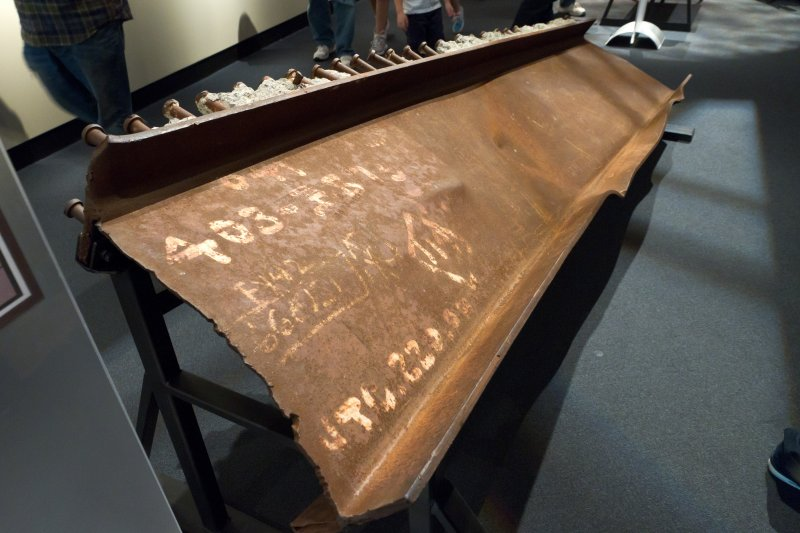 9/11 Exhibit - Beam from the World Trade Center