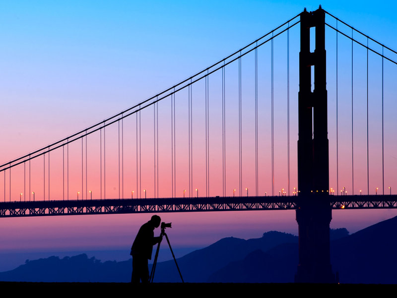 Shooting the Golden Gate !