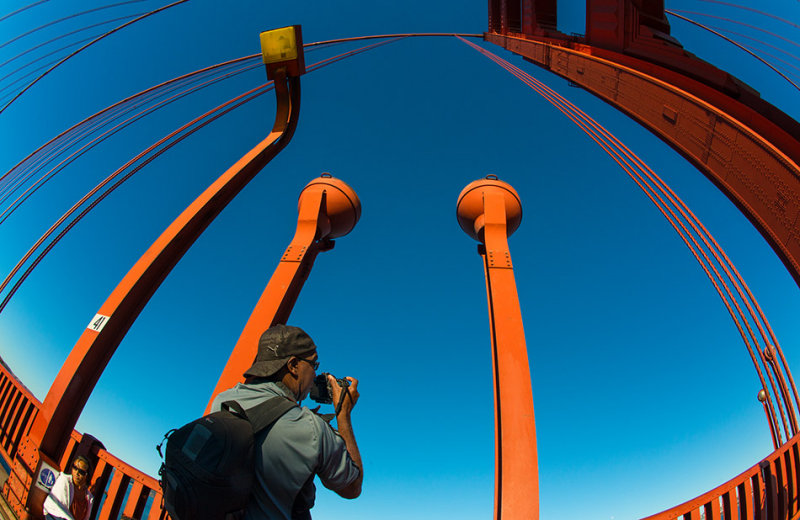 Cedric shooting the Golden Gate