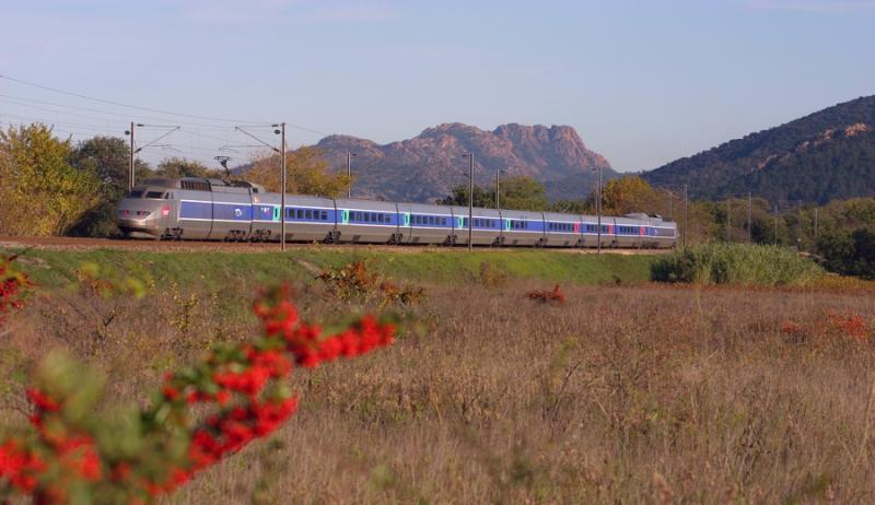 A TGV Sud-Est in the Provencal country.