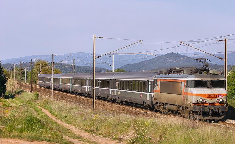 The BB22344 near Gonfaron.