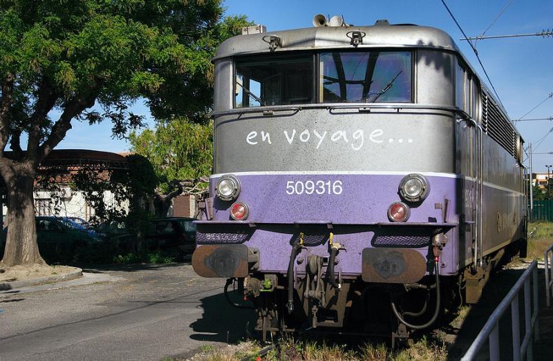 en voyage... the BB9316 at Avignon depot.