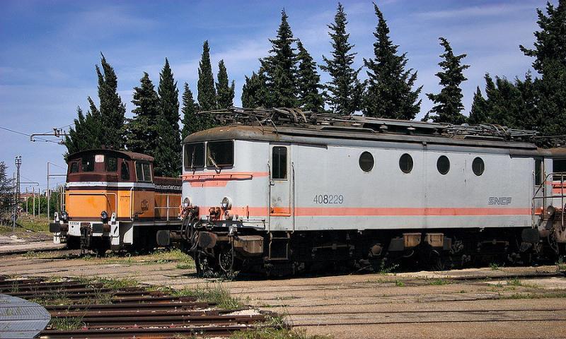 The BB8229 at Avignon depot.