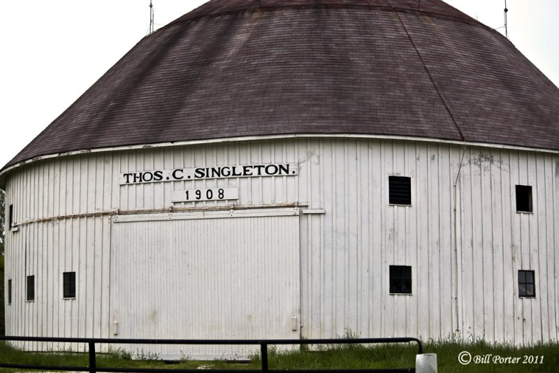 1908 Singleton Round Barn close