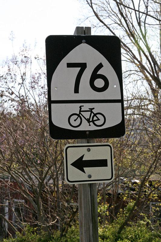 Bikecentennial sign nowadays