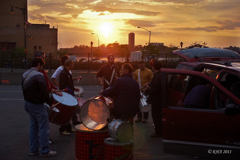 Sunset Drummers