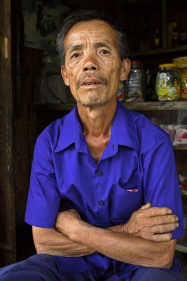 Timber worker. Chaiyuan, Jinping county, Guizhou Province, China