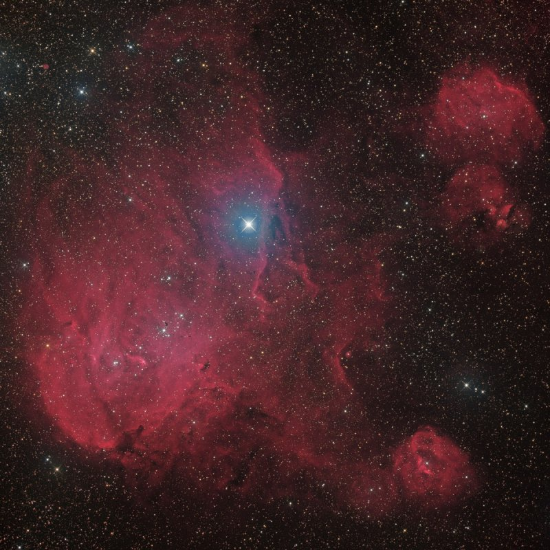 IC 2944, IC 2948 - The Running Chicken Nebula in Centaurus