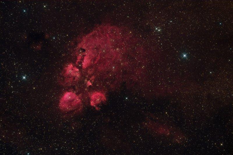 NGC 6334 - Cats Paw Nebula in Scorpius
