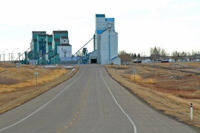 Warner, AB old grain elevators.
