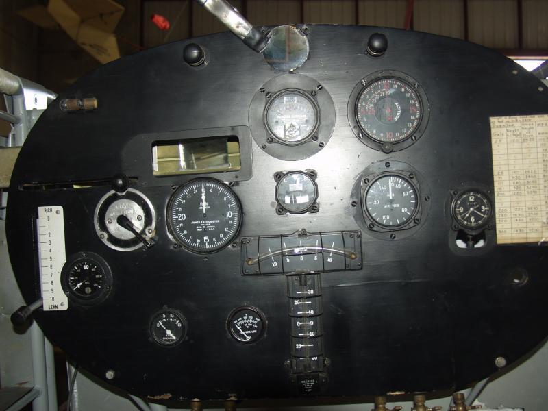 Spirit of St. Louis instrument panel