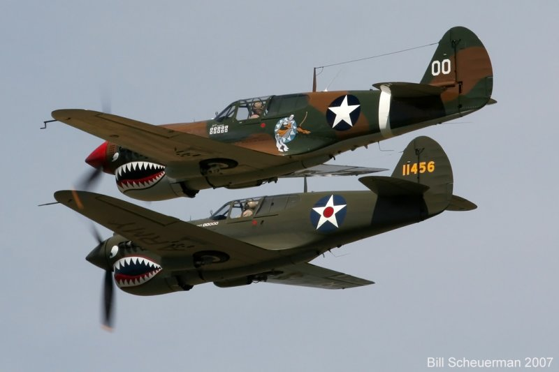 P-40s over Geneseo