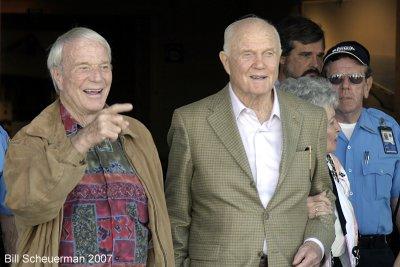 Scott Carpenter and John Glenn