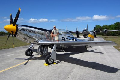 On P-51 with B-29