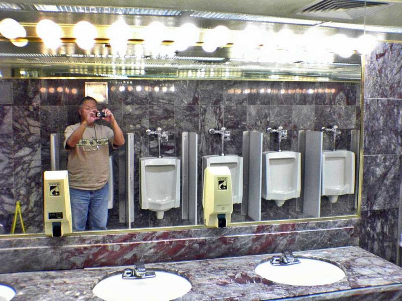 Mens room at the Nugget in Sparks