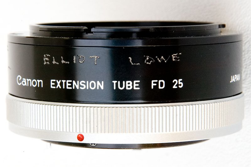 Canon FD 25 Extension tube