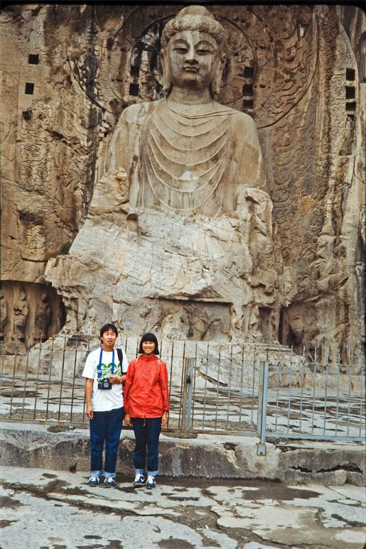 The Grand Vairocana Buddha of Longmen Grottoes. Luoyang, China
