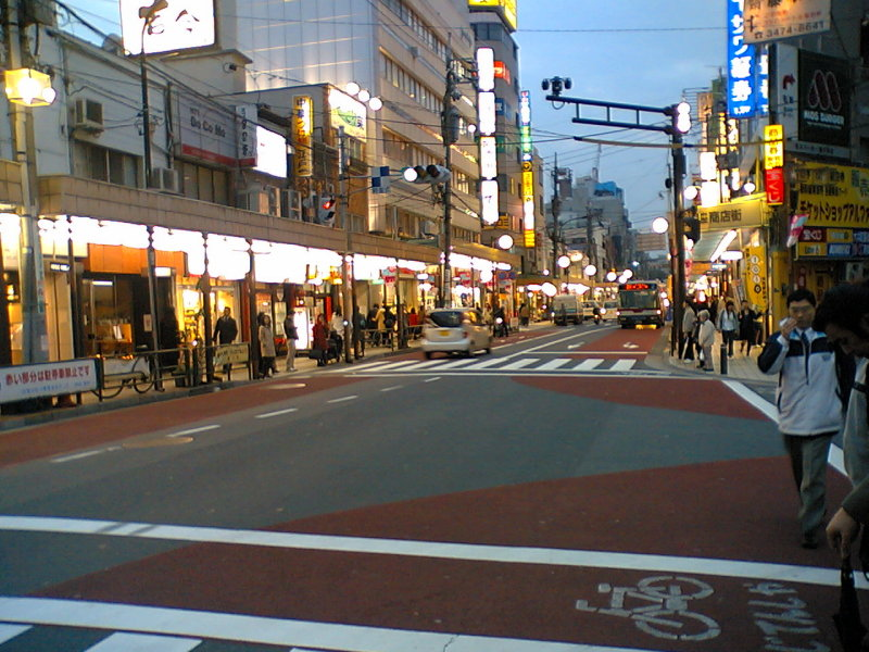 Crossing to a JR station, Tokyo