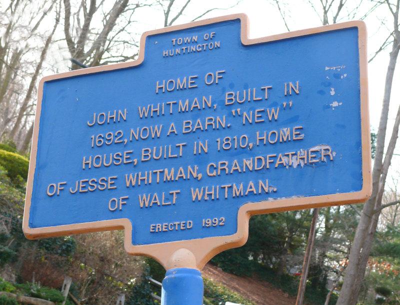 John Whitman home sign