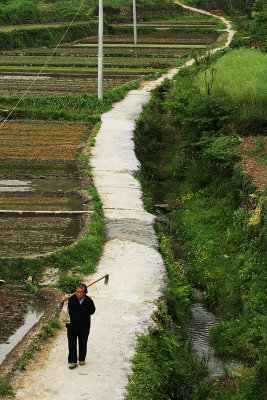 The Long March continues, Hu Village, Anhui Province, China, 2006