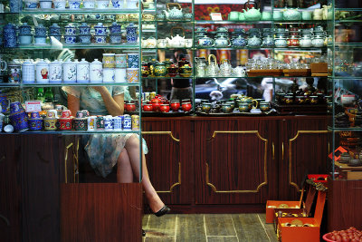 Shopkeeper, Shanghai, China, 2006