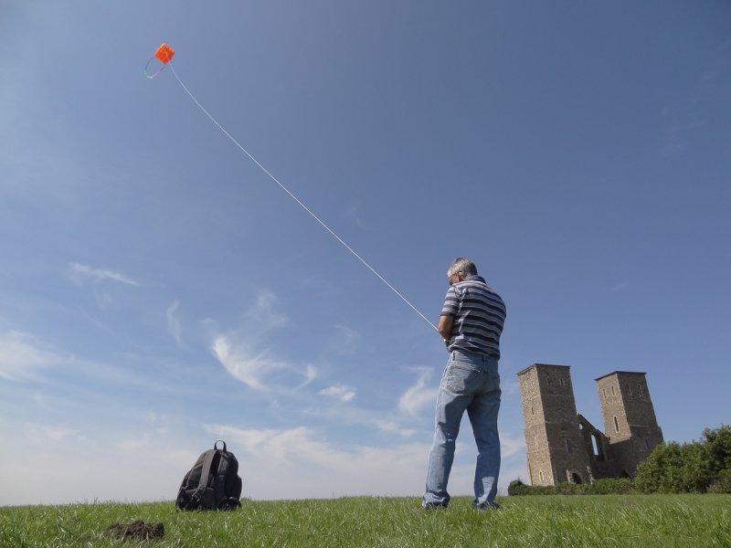 Kite testing for KAP at Reculver