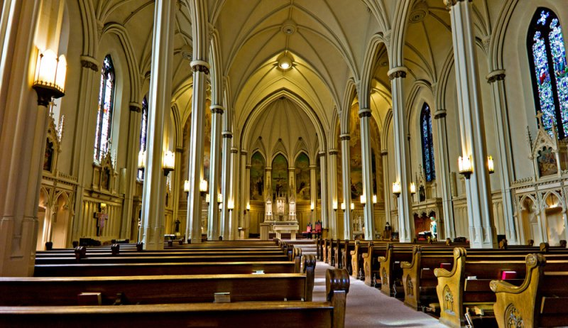 Interior, Church of St. Francis of Assisi