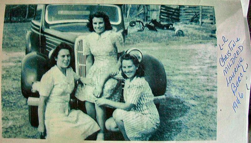 Burch Girls At Old John Clark House