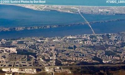 2005 - Patrick Air Force Base (top) and Melbourne aerial stock photo #7182C