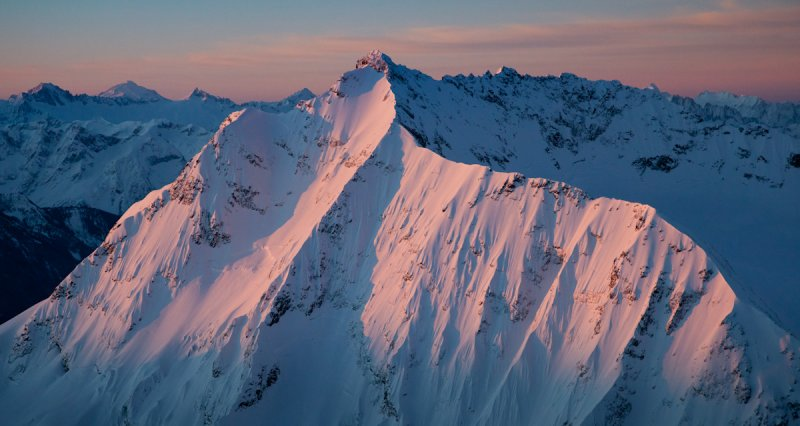 Jack Mountains NE Face At Dawn <br> (JackCrater_020512_017-2.jpg)
