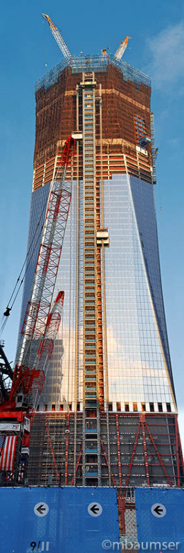 World Trade Center Tower 1 Under Construction (Pano)