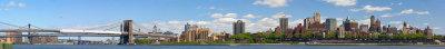Brooklyn Panorama Viewed From Manhattan