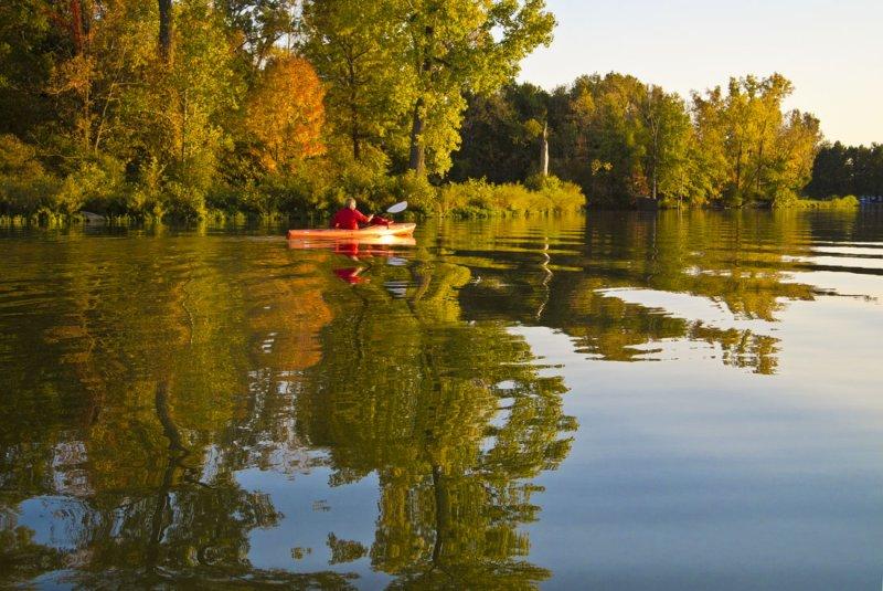 Beautiful Fall Evening on Lake Loramie