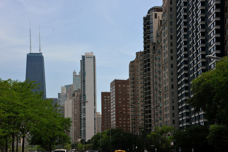 High rent district on Lakeshore drive, North Chicago