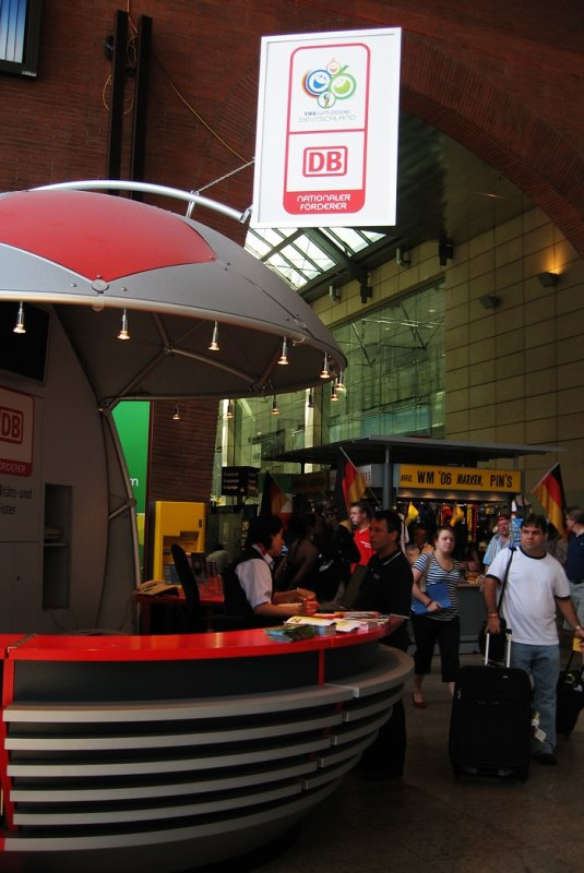 Booth, Cologne Hbf