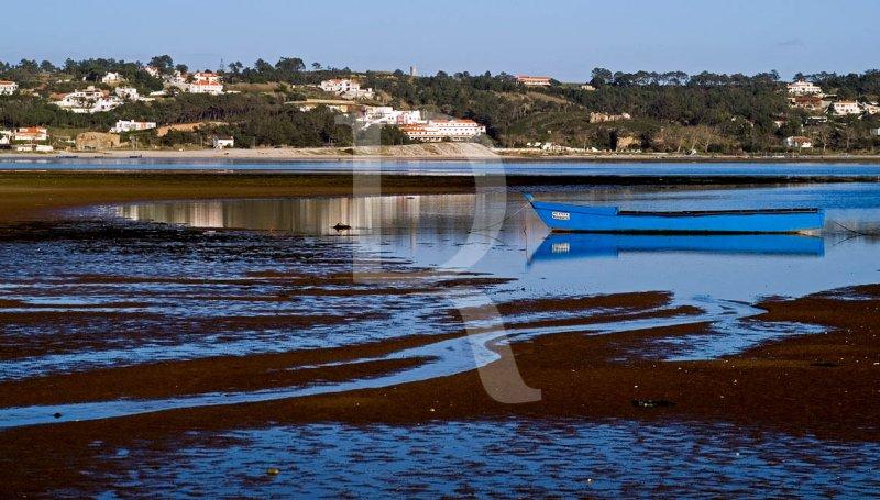 A Lagoa de Óbidos <br>em 14 de fevereiro de 2007